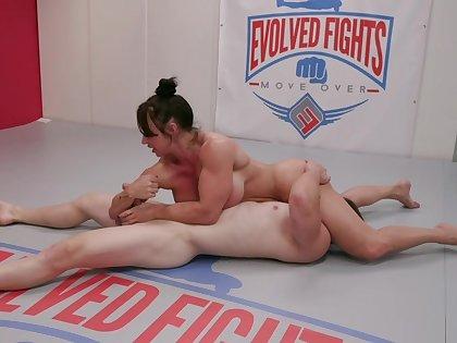 MMA porno parody with muscular mature lady Brandi Mae