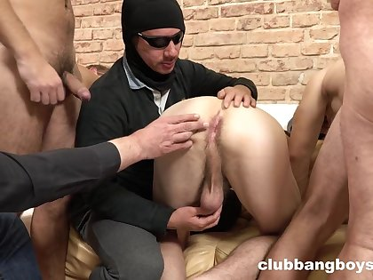 Gang bang extreme for twinks with tight but holes