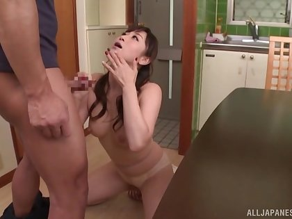 Japanese wife has been take a liking to cock for so long