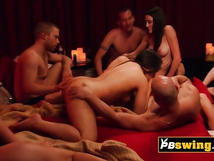 Hot together with sensual rip tide between swingers