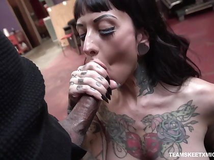 Caught with the addition of fucked missionary unending tattooed bitch named Jessie Lee