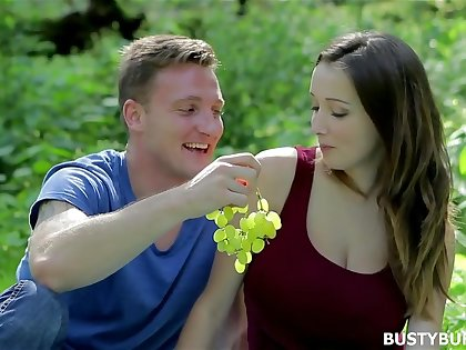 Busty Buffy has romantic sex in the Forest