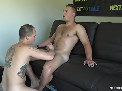 Cocks are rock hard when Justin Weston coupled with Richard Buldger hook up