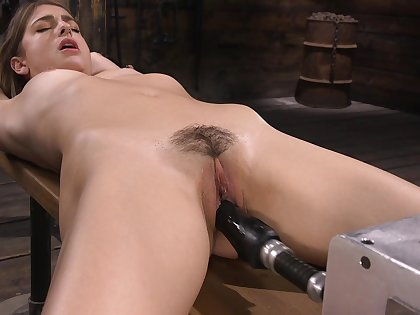Kristen has a shagging contraption in her pussy and that girl is so dear