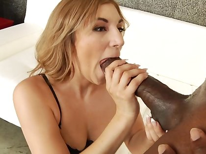 Moka Mora gagging in excess of monstrous black dick