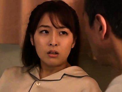 Japanese milf blowjob breast nipple knead