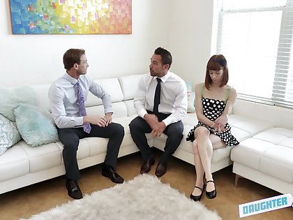 Submissive redhead girl Gabriella Paltrova tied up added to fucked
