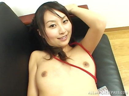 Nice tits Asian girl Rei Itoh spreads her legs for pastor