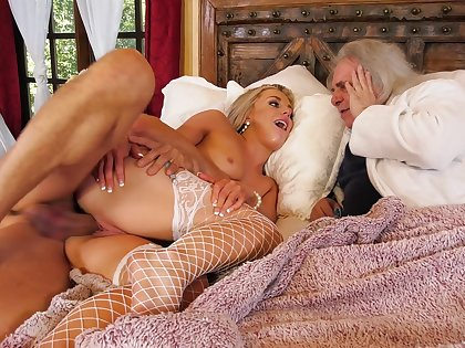 Rich old man watches his wife bestial cuckold fucked with reference to crazy XXX