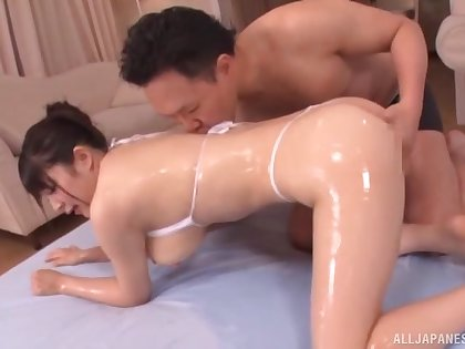 Marvelous nude scenes of home hardcore with a curvy Japanese wife