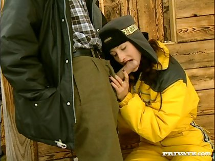 Skinny day Gina Rouge enjoys property irritant fucked in outdoors