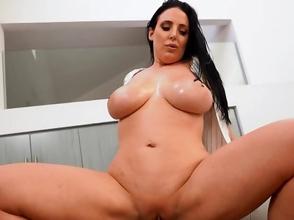Outstanding Angela White cools boyfriend down by interracial sex