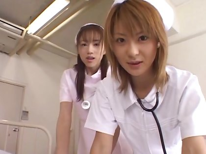Asian nurses top off just about to shot sex with a patient - Naho Ozawa