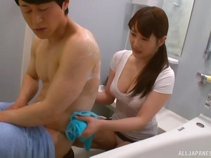 Passionate fucking with a cock hungry Japanese girl who loves it gently