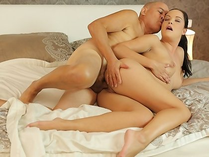 DADDY4K. Stimulated looker penetrated with old penis